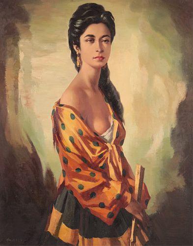 Domingo Huetos - The Golden Dress with Green Dots