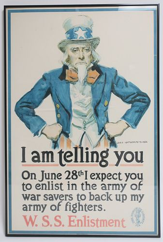 James Montgomery Flagg, I am telling you, poster