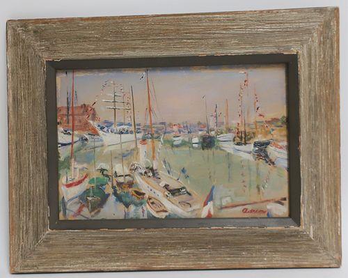 "Lucien Adrion - ""Riviera Port Scene"""