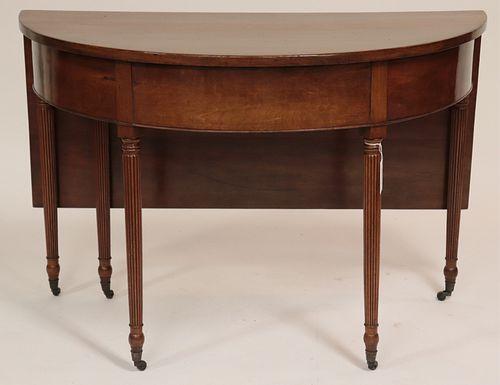 George III Style Mahogany Single Drop Leaf Table