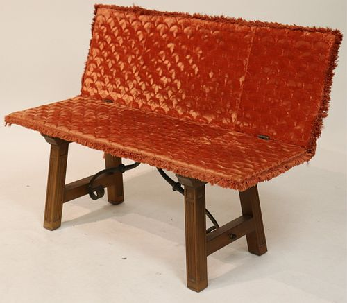 Spanish Style Fold-Over Bench