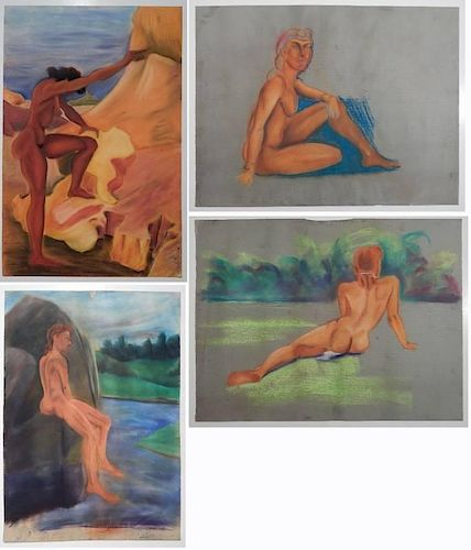Charles Harris 4 pastels