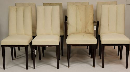 Set of 8 Art Deco Stained Beechwood Dining Chairs