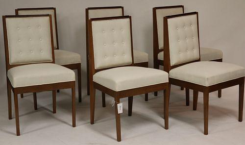 Set of Late Art Deco Oak & Mahogany Dining Chairs