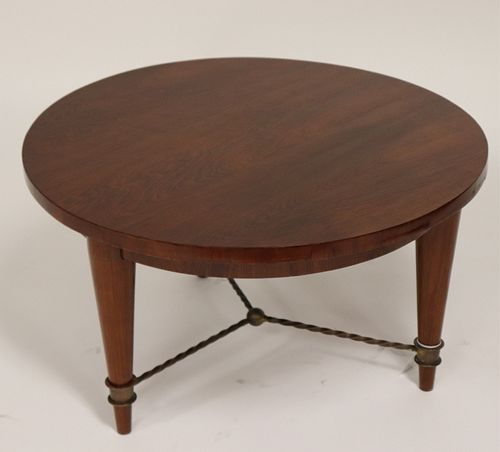 French Art Deco Bronze Mounted Rosewood Side Table