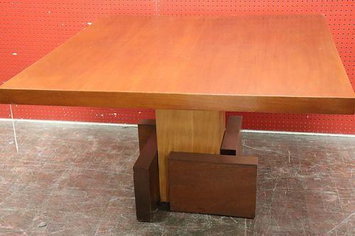 """70's Mahogany """"Constructivist"""" Dining Table"""