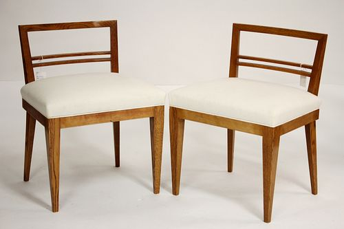 Pair Mid Century Oak Side Chairs