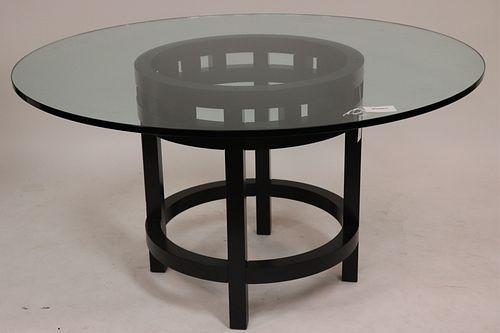 Contemporary Black Lacquer Breakfast Table