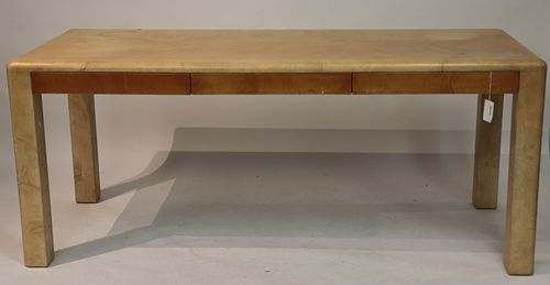 Karl Springer Goat Skin Parson's Table/Desk