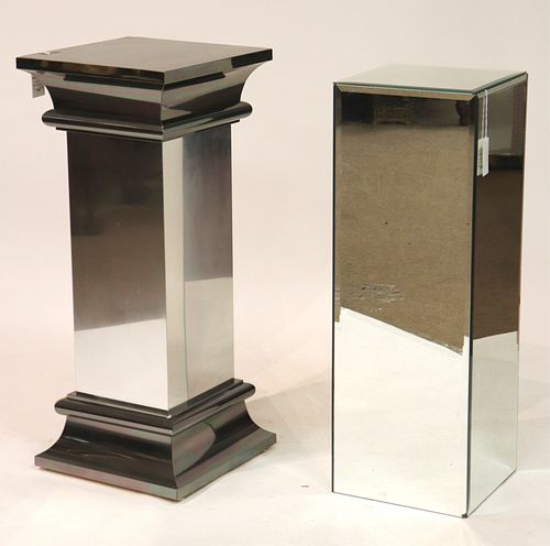 Modern Chrome Pedestal & Mirrored Pedestal