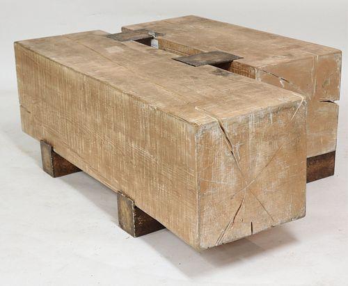 Mimi London Wood/Steel Cocktail Table