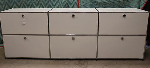 USM Heller White Lacquer & Chrome Storage Chest