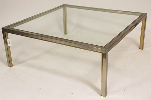 Steel and Glass Modern Coffee Table