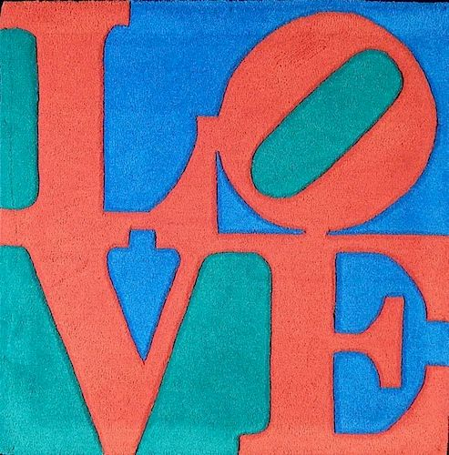 after Robert Indiana tapestry