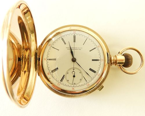 Patek Philippe for Shreve 14K Pocket Watch c 1883