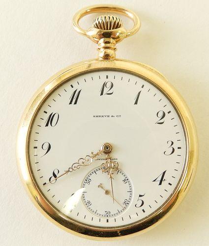 Patek Philippe for Shreve 18K Pocket Watch, c 1911