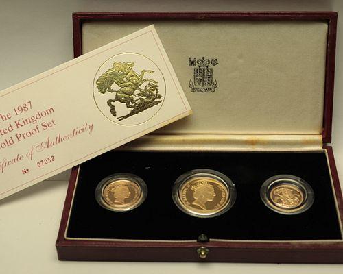 1987 United Kingdom Gold Proof Coin Set