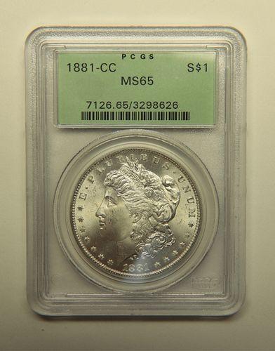 United States 1881-CC Morgan Silver Dollar
