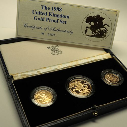1988 United Kingdom Gold Proof Three Coin Set