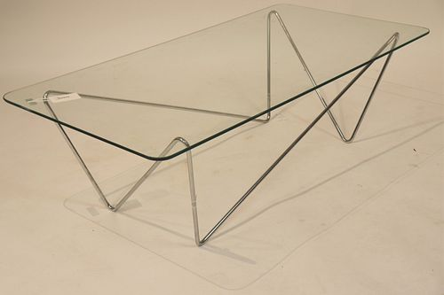 Modern Chrome Amorptic Coffee Table