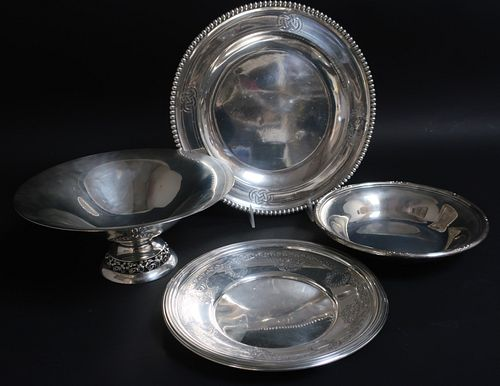 3 Sterling Silver & .900 Silver Trays/Bowls