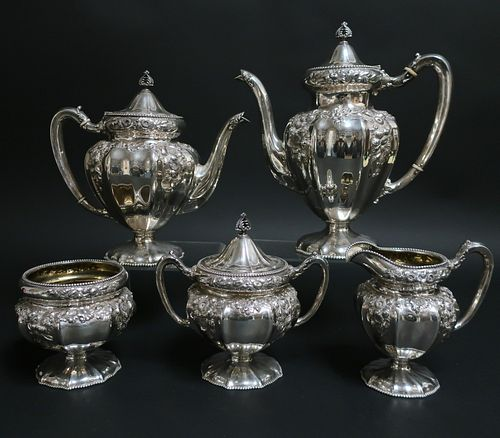 Reed & Barton 5-Pc Sterling Silver Tea/Coffee