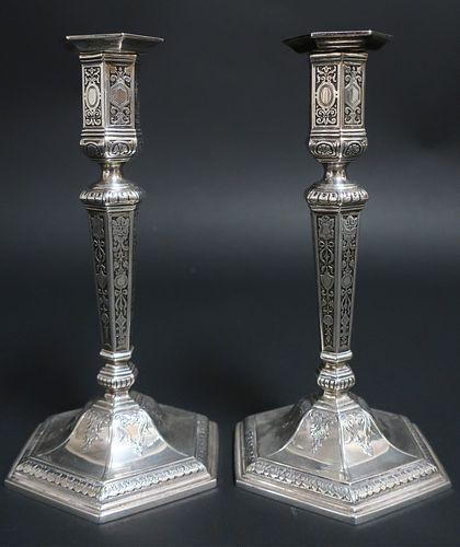 Pr Tiffany & Co. Sterling Silver Candlesticks