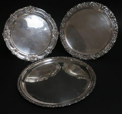 3 Sterling Silver Trays, Tiffany, Black Starr Fros