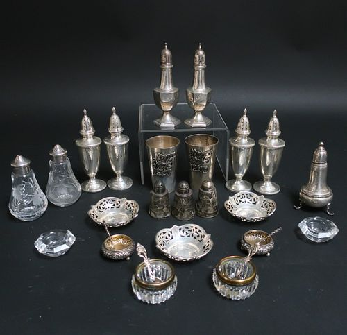 Pair Kiddish .800 Silver Cups & Other Items