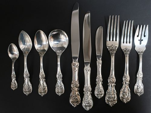 Large Reed & Barton Sterling Flatware Svc., Franci
