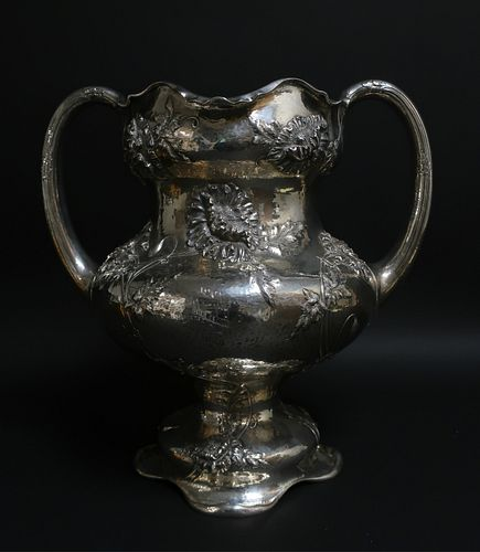 Art Nouveau Sterling Trophy Cup, Black Starr Frost