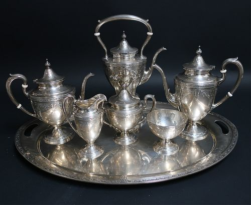 Gorham Sterling Silver Cinderella Tea Coffee Set