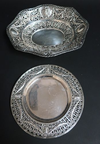 2 Pieces Reticulated German .800 Silver