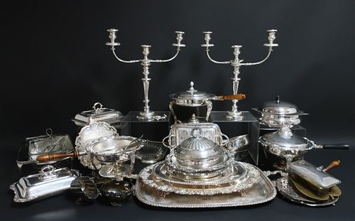 Large Group of Silverplate Items