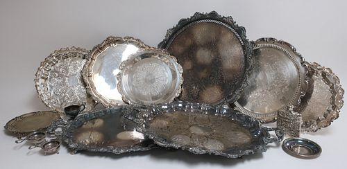 10 Silverplate Trays, Tiffany & Co.