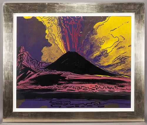 "Andy Warhol ""Vesuvius"" color screenprint, 1985."