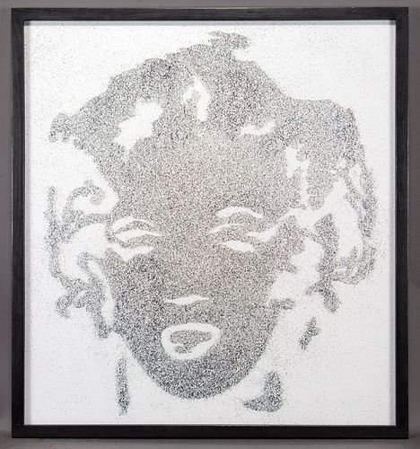 "Vik Muniz ""Reversal Grey Marilyn (from Pictures of"