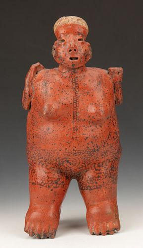 "Pre-Columbian Nayarit Pottery Female Figure, Ht. 18.5"""