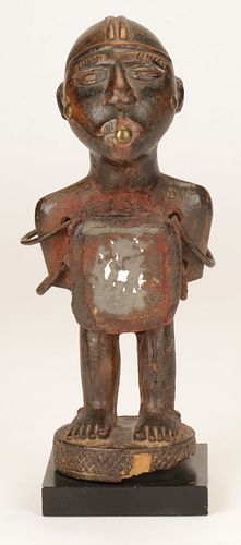 Fine African Kongo Fetish Figure, DRC, Late 19th C.