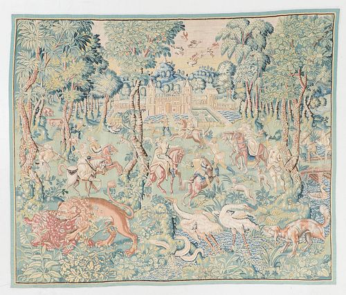 Fine Late 16th Century Flemish Tapestry: 9'6'' x 8'1''
