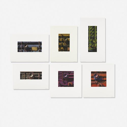 Robert Cottingham, Six works from the Rolling Stock Series