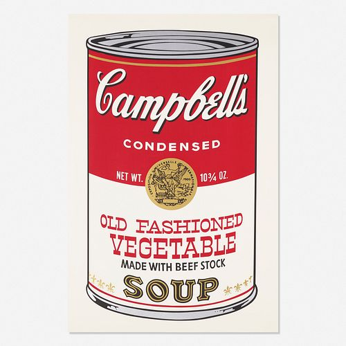 Andy Warhol, Old Fashioned Vegetable from Campbell's Soup II