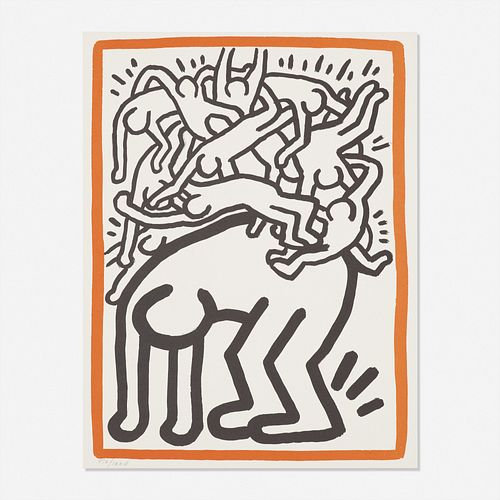 Keith Haring, Untitled (Fight Aids Worldwide)