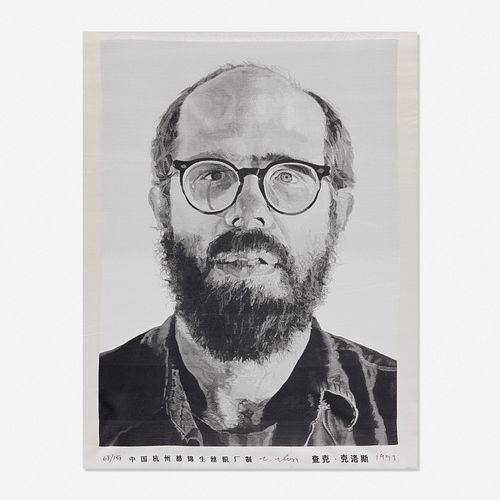 Chuck Close, Self-portrait (tapestry)