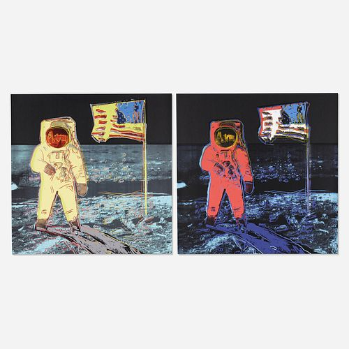 After Andy Warhol, Moonwalk (two works)