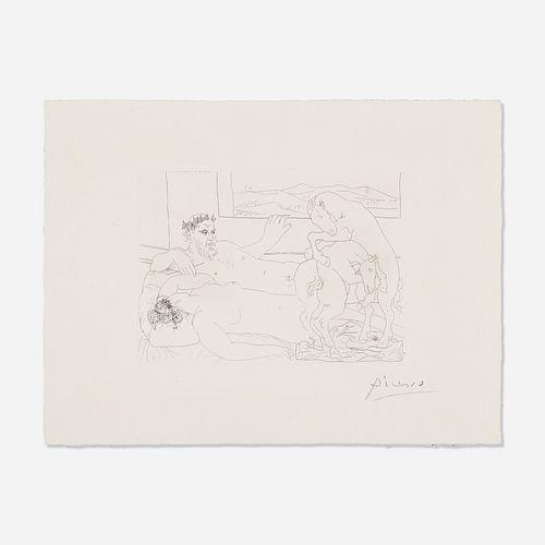 Pablo Picasso, Le Repos du Sculpteur III from La Suite Vollard
