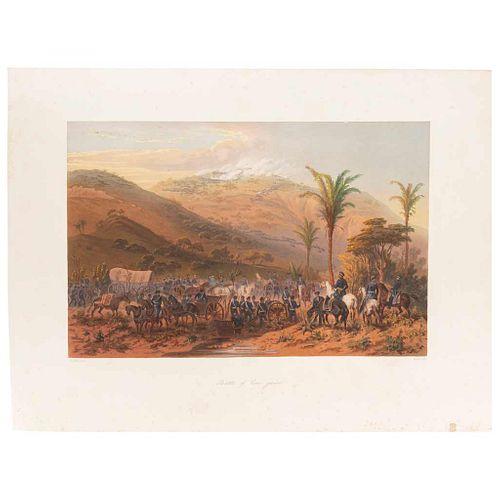 "Nebel, Carl. Battle of Cerro Gordo. New York-Philadelphia- Paris, 1851. Colored lithograph, 10.9 x 16.7"" (27.7x42.5 cm)"