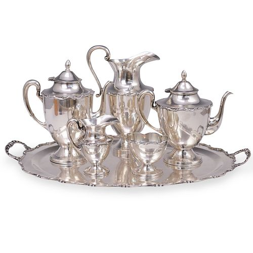 (6 Pc) Set of Juvento Lopez Reyes Sterling Tea Set