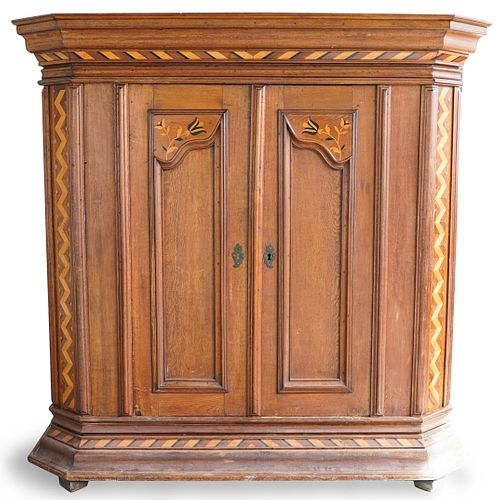 Dutch Marquetry Inlaid Armoire