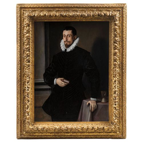 Attributed to Tiberio Titi (FLORENCIA, 1573-1627). Portrait of a Gentleman. Italy. 17th Century. Oil on board.